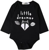 Cathery Baby Rompers Boys Unisex Winter Long Sleeve Jumpsuit Little Dreamer Fox Print