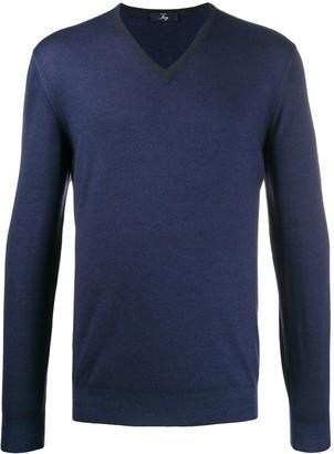 Fay v-neck fine knit jumper