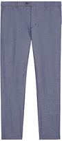Jaeger Cotton Chambray Slim Fit Trousers, Chambray