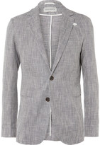 Oliver Spencer - Blue Theobald Slim-fit Linen And Cotton-blend Jacket