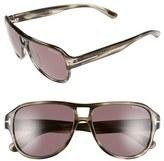 Tom Ford Men's 'Dylan' 57Mm Aviator Sunglasses - Black/ Green
