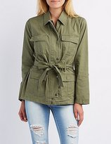 Charlotte Russe Tied Cargo Anorak Jacket