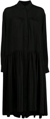 Simone Rocha Tiered Silk Shirt Dress