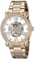 Stuhrling Original Legacy 629 Women's Automatic Watch with White Dial Analogue Display and Rose Gold Stainless Steel Bracelet 629.05