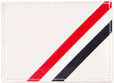 Thom Browne striped detail cardholder - men - Calf Leather - One Size