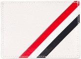Thom Browne striped detail cardholder