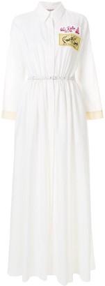 Emilio Pucci patch-applique maxi shirt dress