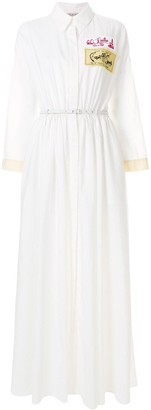 Emilio Pucci Patch-Applique Maxi Shirt Dress