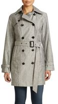 MICHAEL Michael Kors Double Breasted Belted Trench Coat