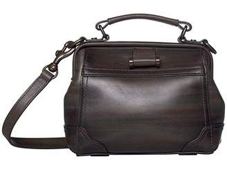 Frye Charlie Frame Satchel Crossbody (Camo) Cross Body Handbags