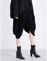 Limi Feu Draped high-rise gabardine trousers