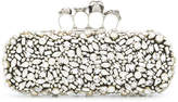 Alexander McQueen Crystal Skull four-ring box clutch