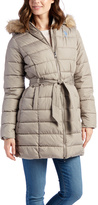 U.S. Polo Assn. Moon Rock Faux Fur Hooded Belted Coat