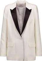 IRO Badler satin-trimmed crepe blazer