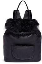 Elizabeth and James 'Langley' fur flap leather backpack