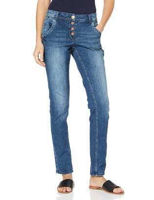 Cecil Women's 372794 Scarlett Loose Fit Straight Jeans