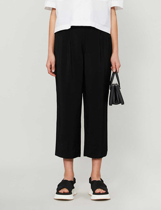 Whistles Cropped straight high-rise woven trousers