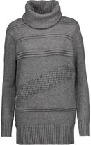 Diane von Furstenberg Talassa Paneled Wool And Cashmere-Blend Turtleneck Sweater