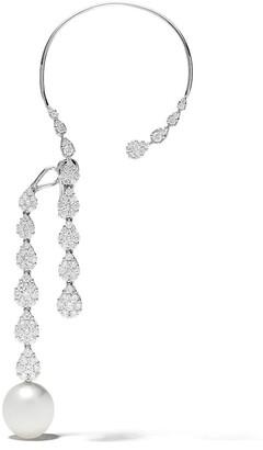 Yoko London 18kt white gold Novus South Sea pearl and diamond ear cuff