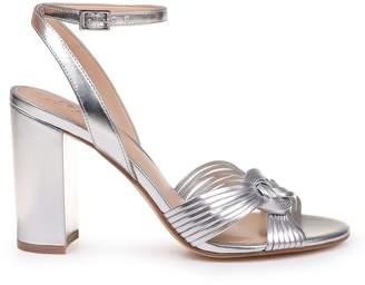 Badgley Mischka Krystal Metallic Platform Sandals
