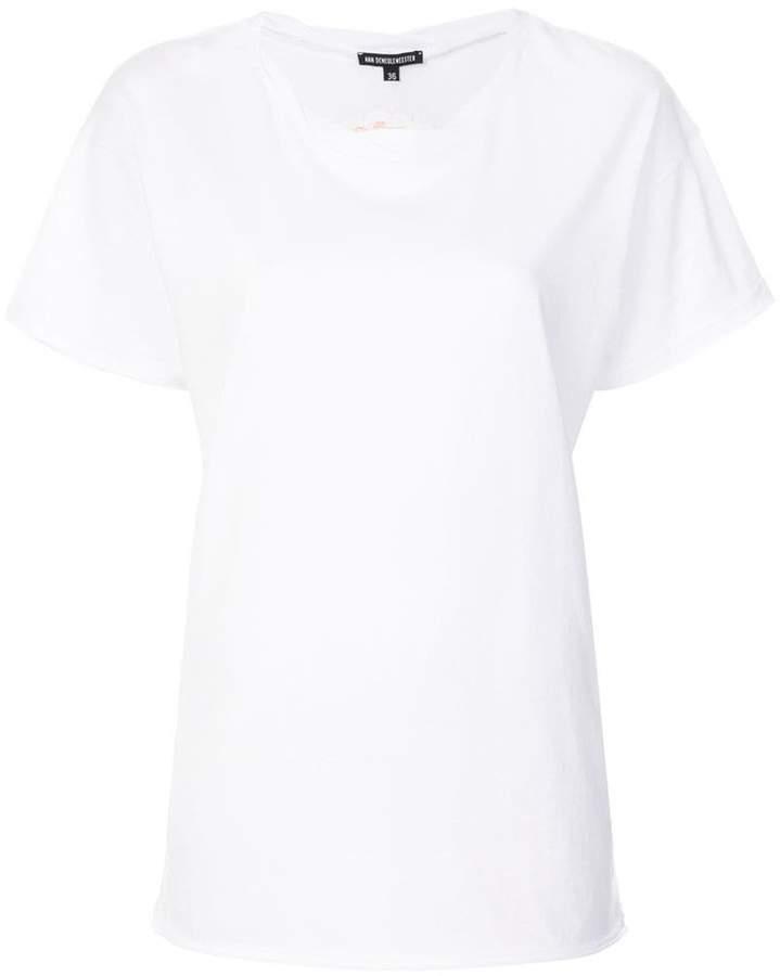 Ann Demeulemeester embroidered flower T-shirt