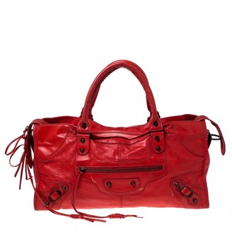 Balenciaga Part Time Orange Leather Handbags