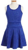 Un Deux Trois Girl's Jacquard Skater Dress