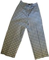 Burberry Blue Cotton Trousers