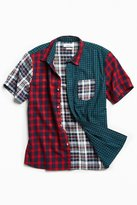 Urban Outfitters Blocked Tartan Plaid Short Sleeve Button-Down Shirt