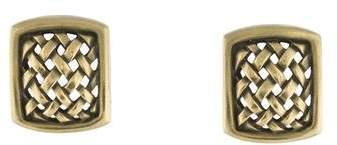 Kieselstein-Cord 18K Woven Clip On Earrings