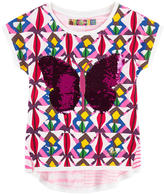 Desigual Printed T-shirt with reversible sequins