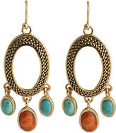 Barse FINE JEWELRY Art Smith by Turquoise & Coral Oval Earrings