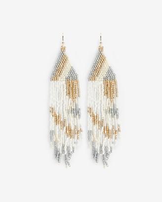 Express Seed Bead Fringe Drop Earrings