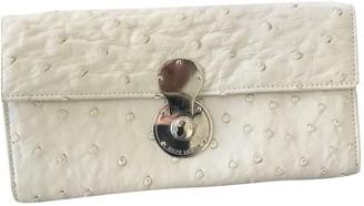 Ralph Lauren White Ostrich Wallets