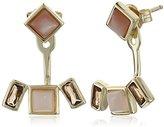 Shashi Emma Yellow Gold/Rose Earrings Jackets