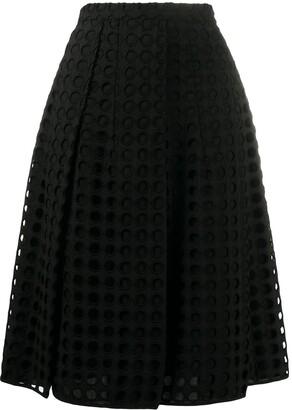 No.21 A-line mesh skirt