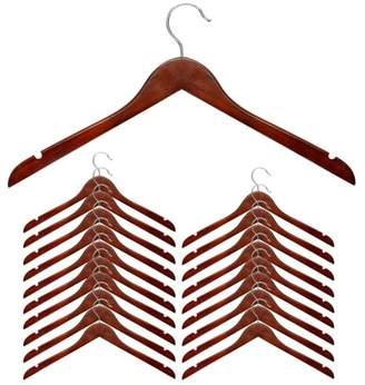 Honey-Can-Do Cherry Wood Shirt Hanger, Set of 20