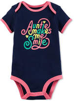 Carter's Graphic-Print Cotton Bodysuit, Baby Girls