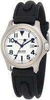 Momentum Women's 1M-SP01W1 Atlas White Dial Black SLK Rubber Watch