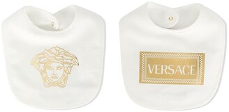 Versace Set Of Two Logo Print Bibs