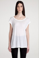 T by alexander wang SHEER COWL BOATNECK Tee