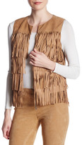 Alice + Olivia Walker Genuine Suede Fringe Vest