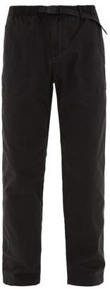 Gramicci Drawstring-waist Cotton Trousers - Black