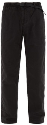 Gramicci Drawstring-waist Cotton Trousers - Mens - Black