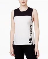 Tommy Hilfiger Colorblocked Logo Tank Top, A Macy's Exclusive