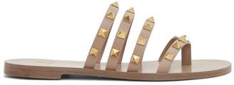Valentino Pink Garavani Rockstud Slip-On Sandals