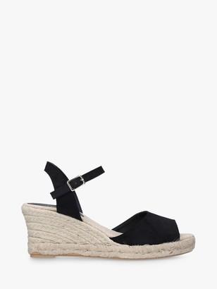 Carvela Salem Espadrille Wedge Sandals, Black