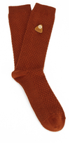 Folk Men's Single Socks Rust