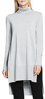 Vince Camuto Turtleneck Long Sleeve Hi-Low Hem Lurex Tunic
