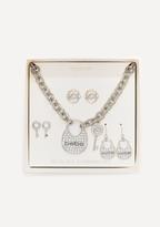 Bebe Lock & Key Jewelry Set